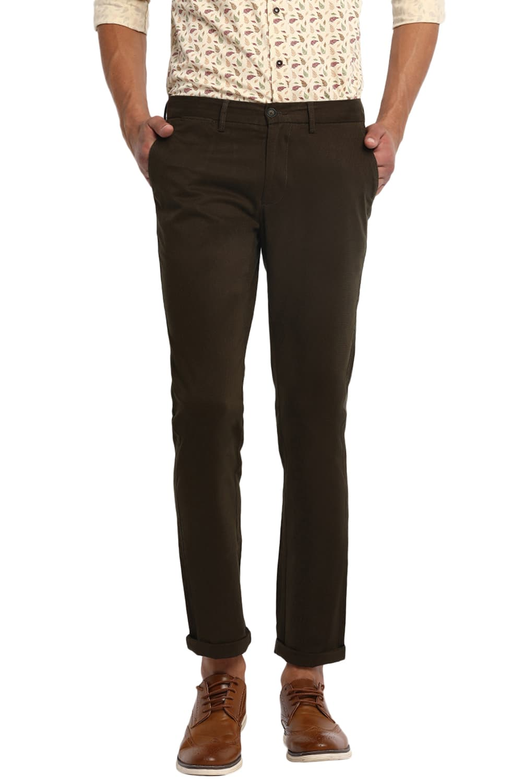 Basics   Basics Skinny Fit Dark Olive Stretch Trouser