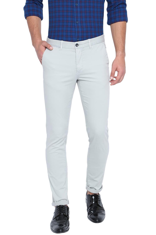 Basics | Basics Skinny Fit Mercury Light Grey Stretch Trouser