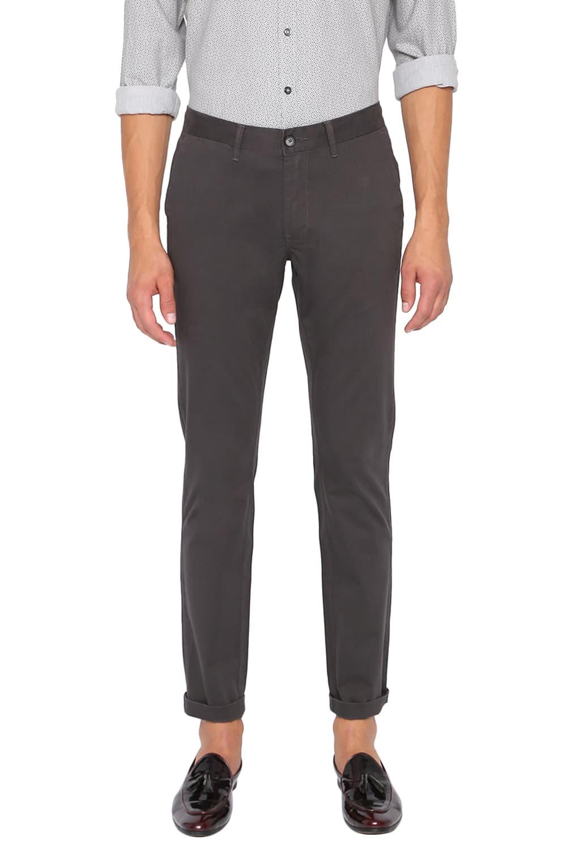 Basics | Basics Skinny Fit Ebony Grey Stretch Trouser