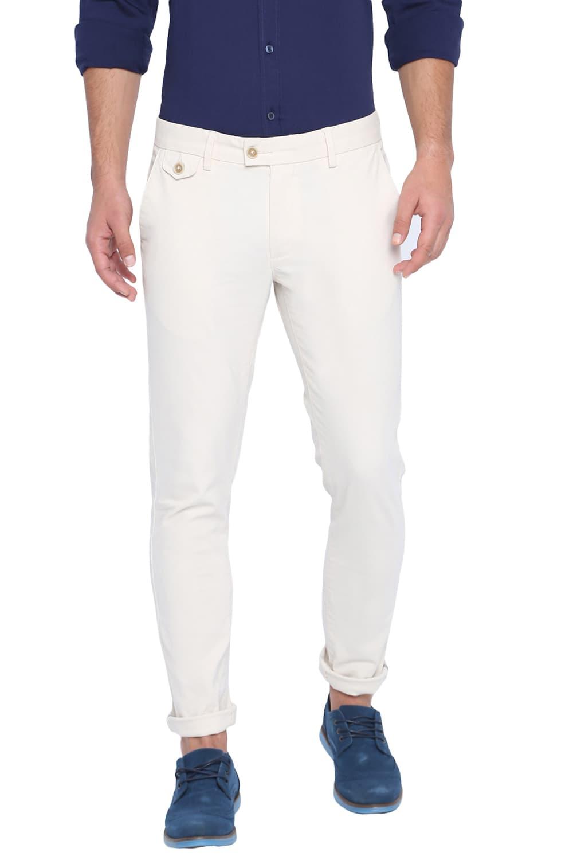 Basics | Basics Skinny Fit White Swan Stretch Trouser