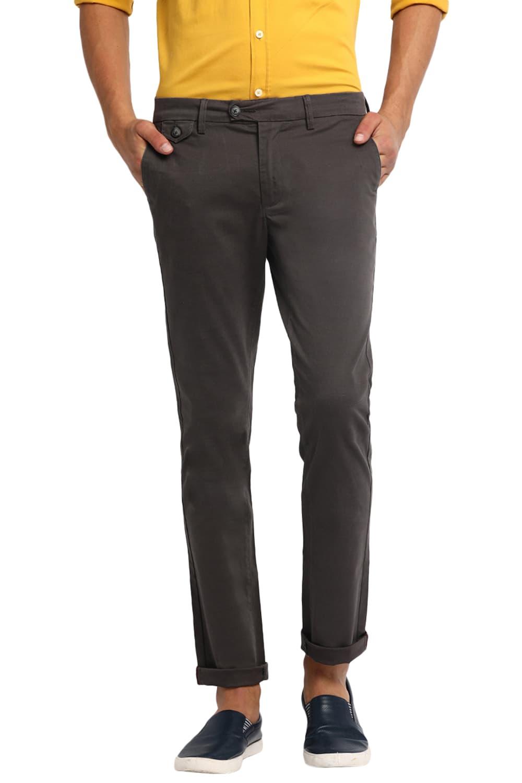 Basics | Basics Skinny Fit Gunmetal Stretch Trouser