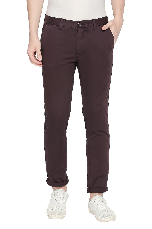 Basics | Basics Tapered Fit Puce Stretch Trouser