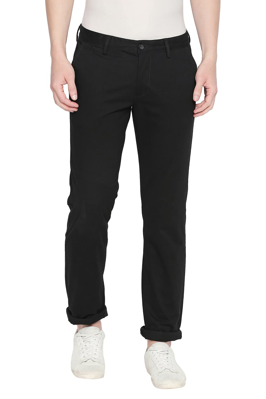 Basics | Basics Slim Fit Phantom Black Stretch Trouser