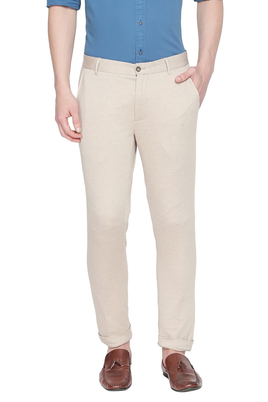 Basics   Basics Tapered Fit Warm Sand Knit Trouser