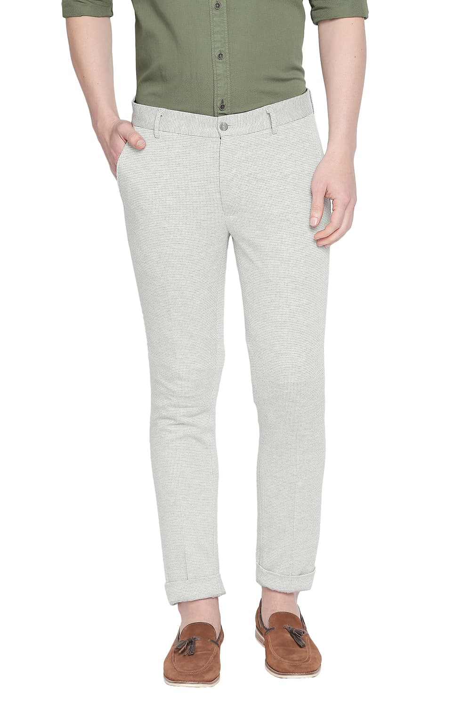 Basics   Basics Tapered Fit Silver Birech Knit Trouser