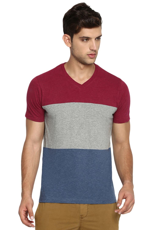 Basics | Basics Muscle Fit Port Heather V Neck T Shirt