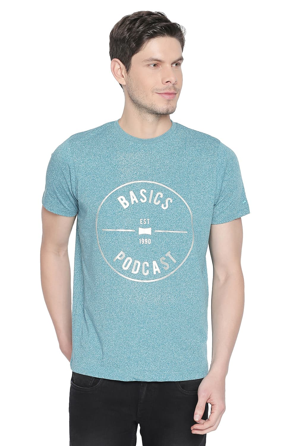 Basics | Basics Muscle Fit Biscay Bay Crew Neck T Shirt