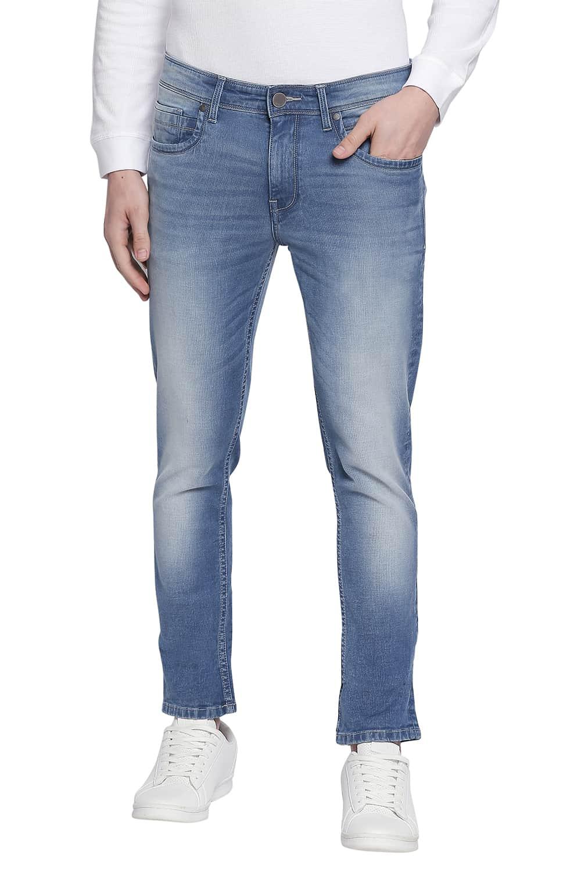 Basics   Basics Blade Fit Faded Denim Stretch Jeans