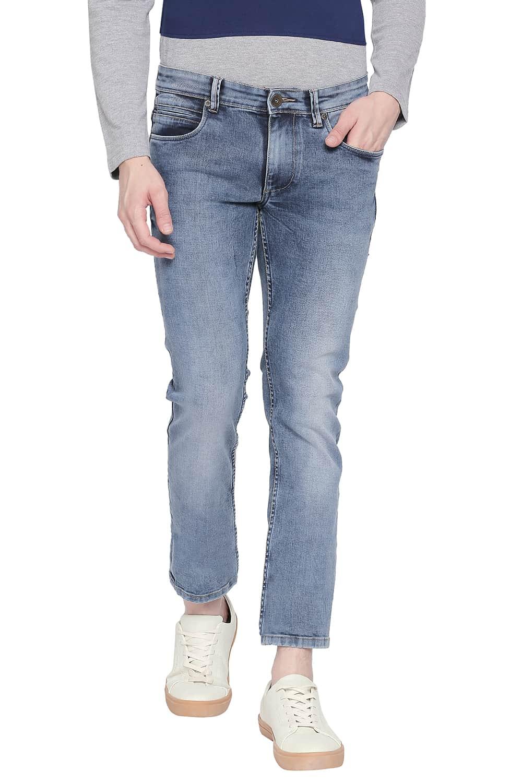 Basics   Basics Blade Fit Dusty Dlue Stretch Jeans