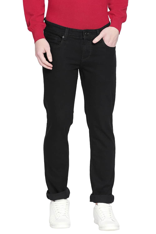 Basics   Basics Torque Fit Pirate Black Stretch Jeans
