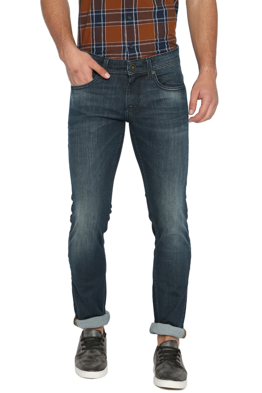 Basics | Basics Torque Fit Midnight Blue Stretch Jeans-20BJN46141