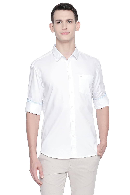 Basics   Basics Slim Fit Bright White Oxford Shirt