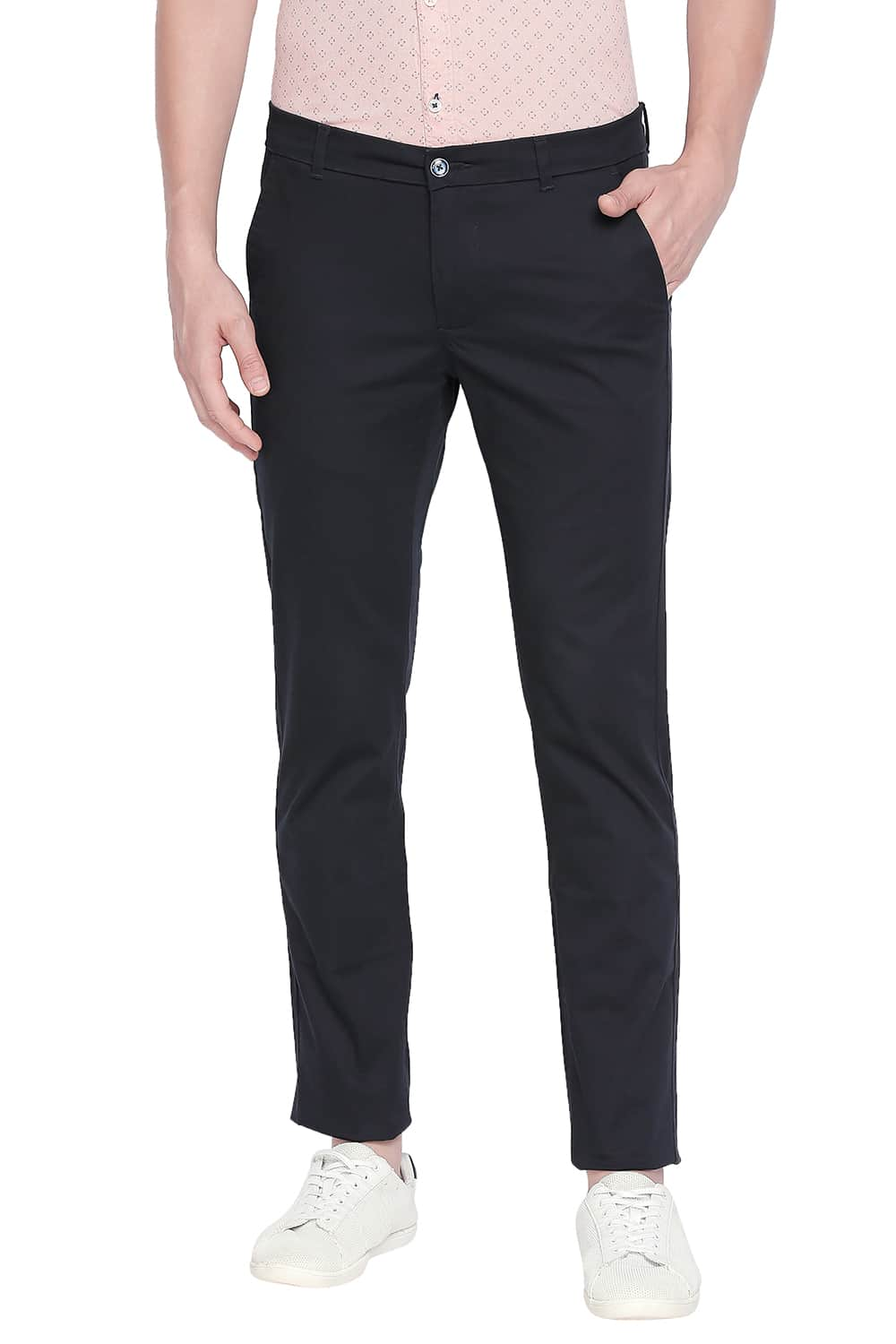 Basics | Basics Tapered Fit Total Eclipse Stretch Trouser