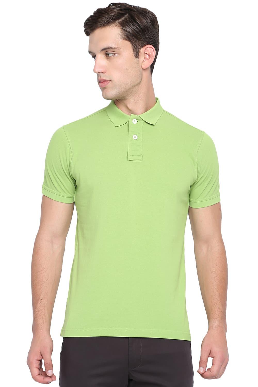 Basics | Basics Muscle Fit Parrot Green Polo T Shirt