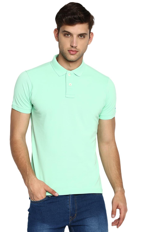 Basics   Basics Muscle Fit Apple Green Polo T Shirt-20BTS46080