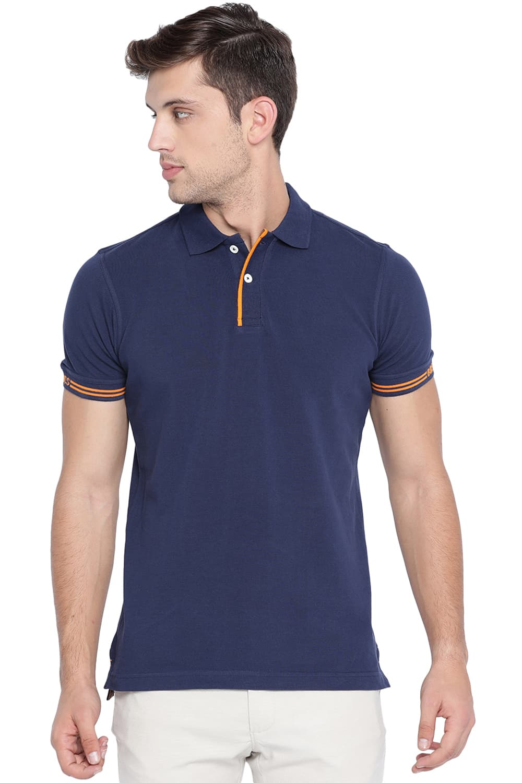 Basics | Basics Muscle Fit Iris Navy Polo T Shirt-20BTS46087
