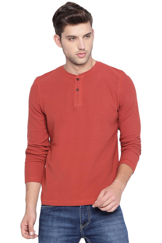 Basics | Basics Muscle Fit Picante Henley T Shirt-20BTS46101