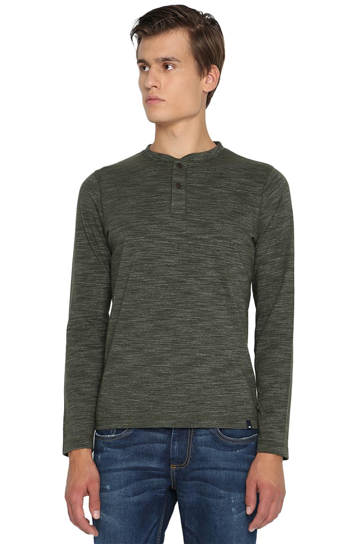 Basics   Basics Muscle Fit Forest Night Henley T Shirt-20BTS46114