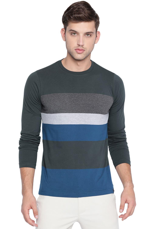 Basics   Basics Muscle Fit Uni Green Crew Neck T Shirt-20BTS46131