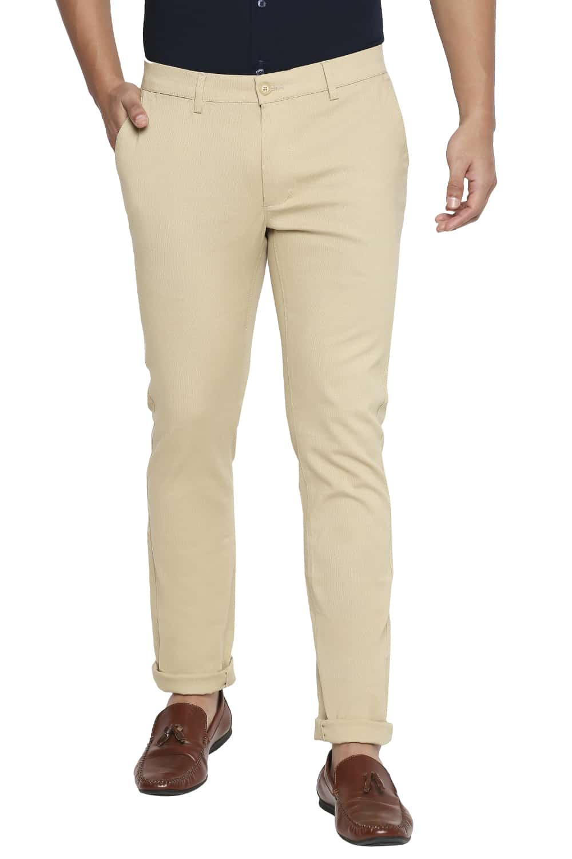 Basics | Basics Tapered Fit Pale Khaki Stretch Trouser