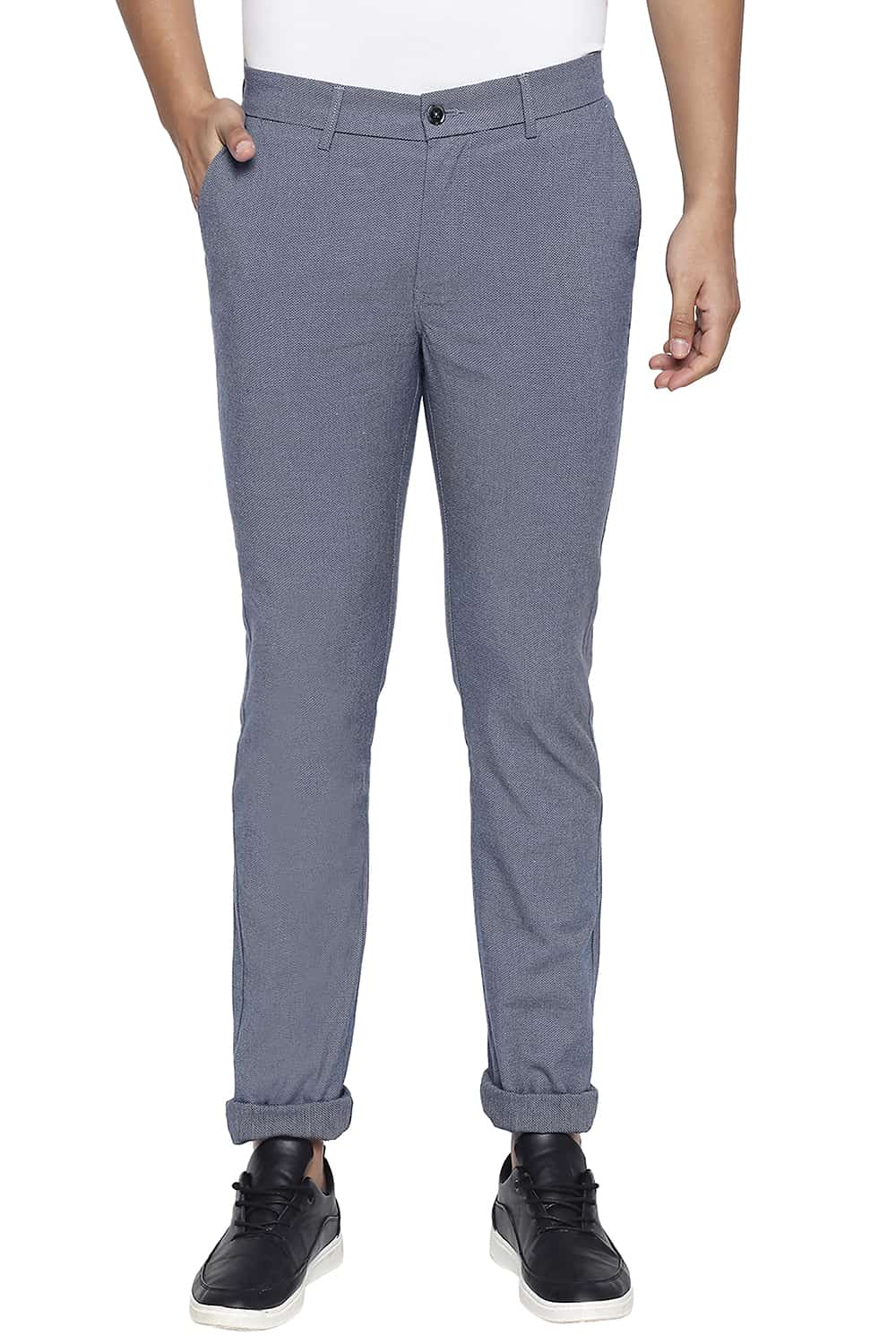 Basics | Basics Tapered Fit Real Teal Navy Stretch Trouser