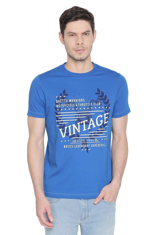 Basics | Basics Muscle Fit Imperial Blue Crew Neck T Shirt-21BTS46811