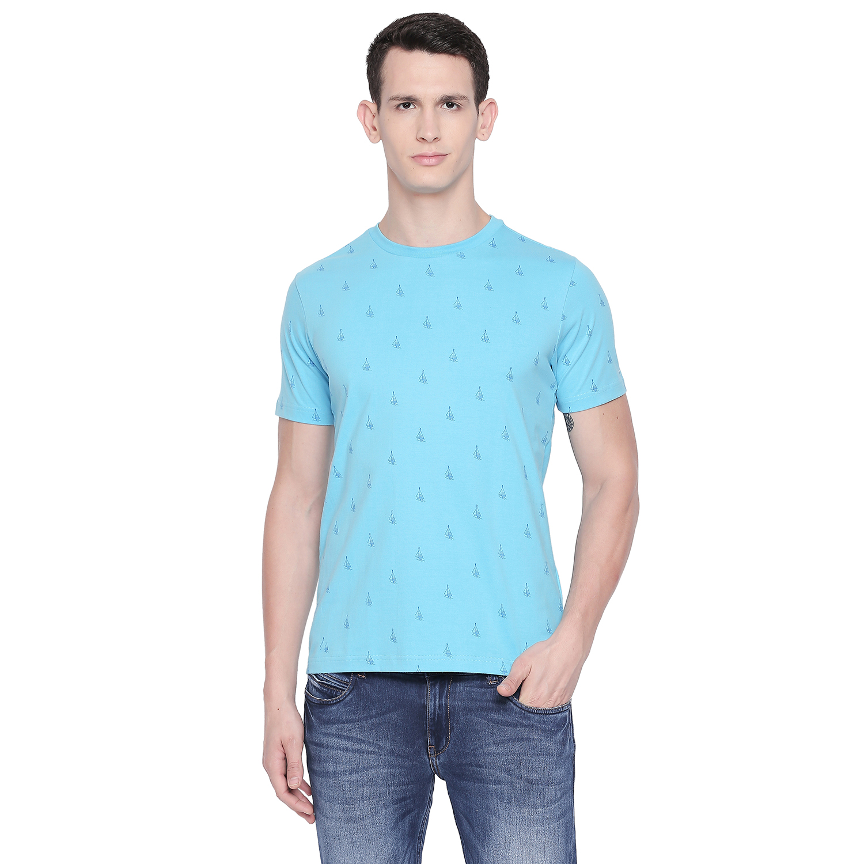 Basics | Basics Muscle Fit Aquarius Printed Crew Neck T Shirt-21BTS48027