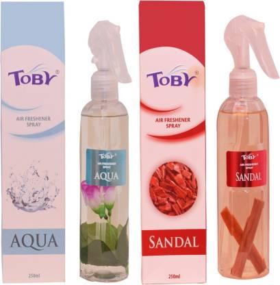 Toby | TOBY Aqua & Sandal Air Freshener (Room Spray) - (250mlx2)