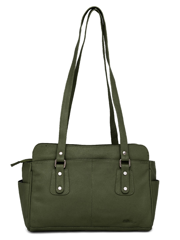 WildHorn   WildHorn Upper Grain Genuine Leather Ladies Shoulder Hand Bag for Girls & Women - Green