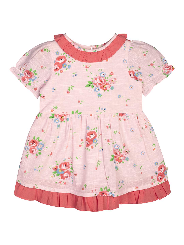 Budding Bees | Budding Bees Girls Peach Floral Dress