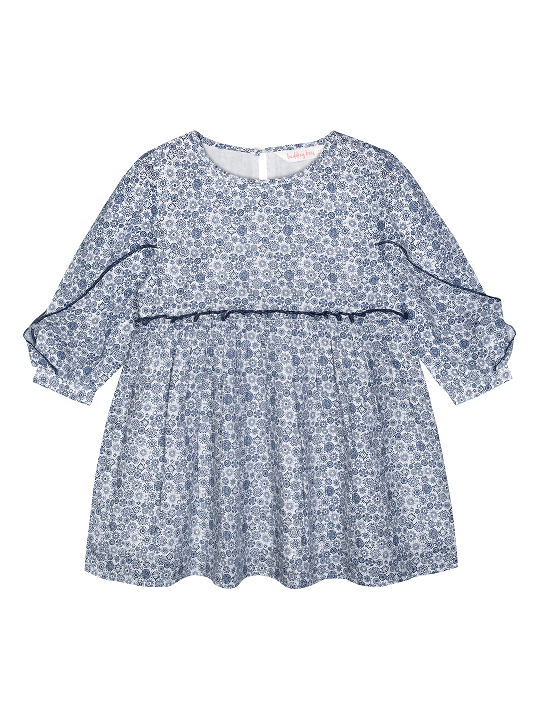 Budding Bees | Budding Bees Girls Blue Floral Top