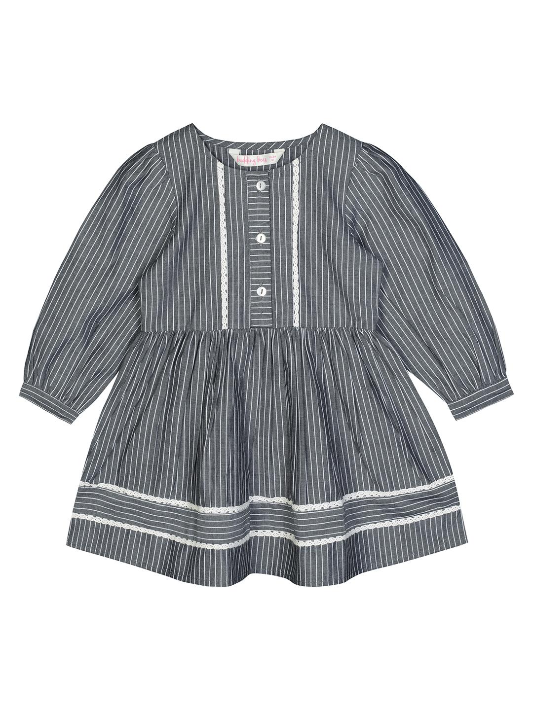 Budding Bees | Budding Bees Bbay Girls Grey Striped Dress