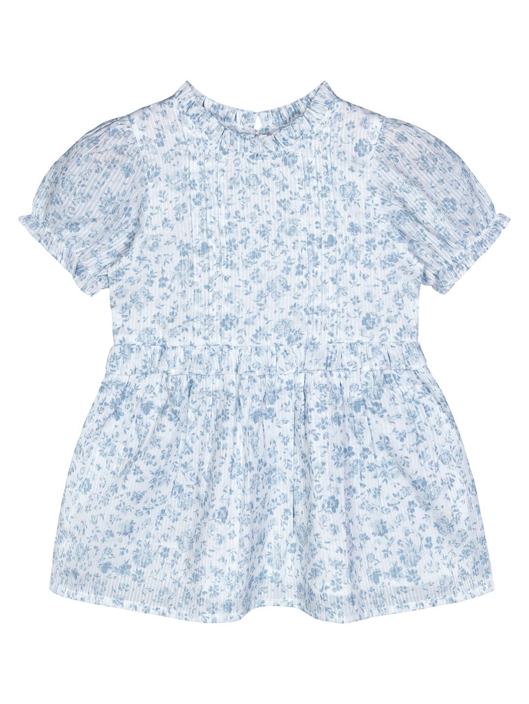 Budding Bees | Budding Bees Infants Printed Smocked Dress-Blue
