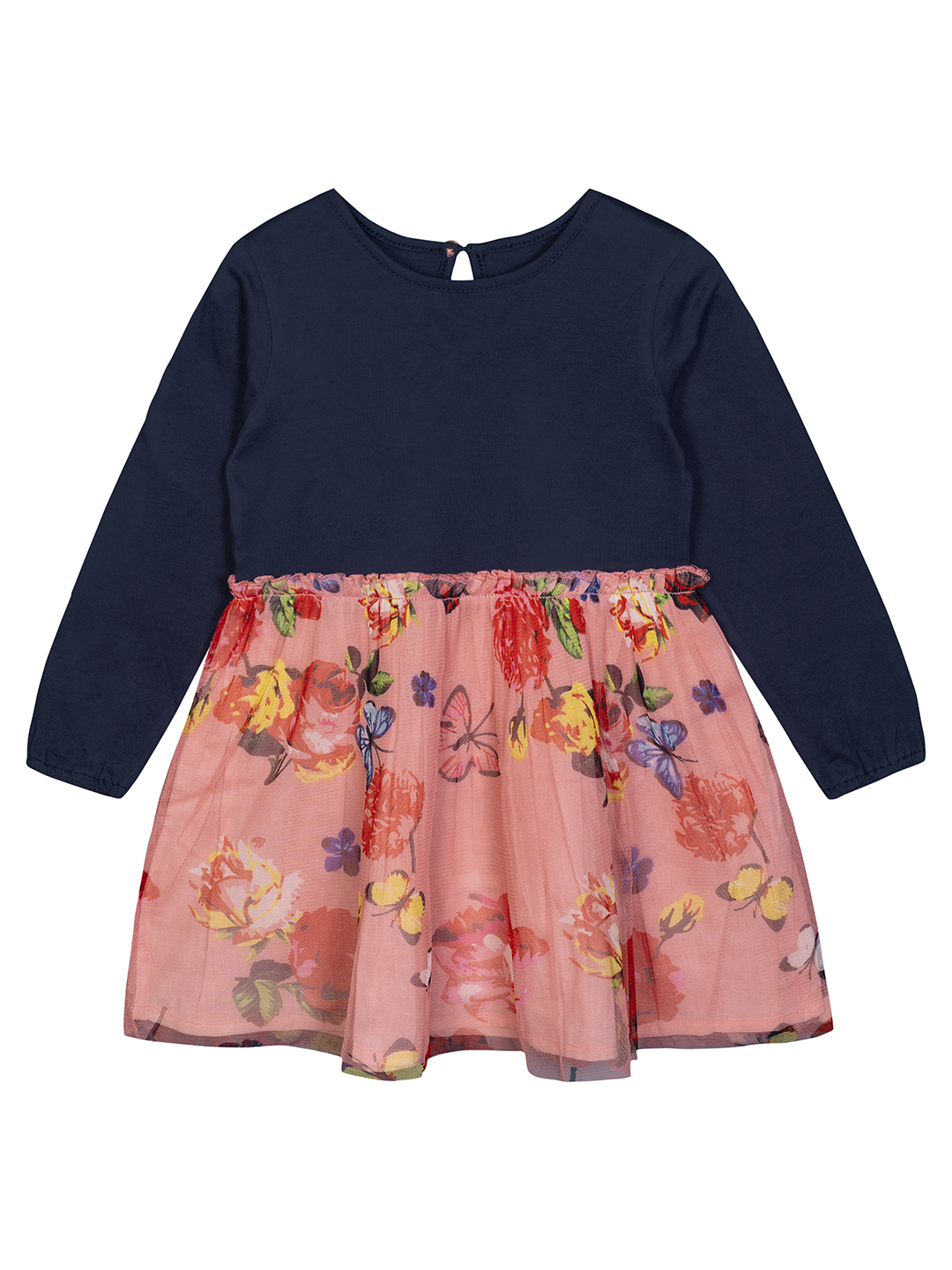 Budding Bees | Budding Bees Baby Girls Cotton Jersey With Net Floral Dress