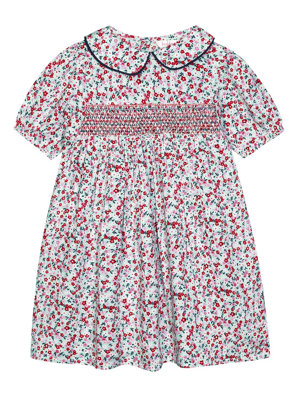 Budding Bees | Budding Bees Baby Girls Multi Smocked Peter pen Collor Dress