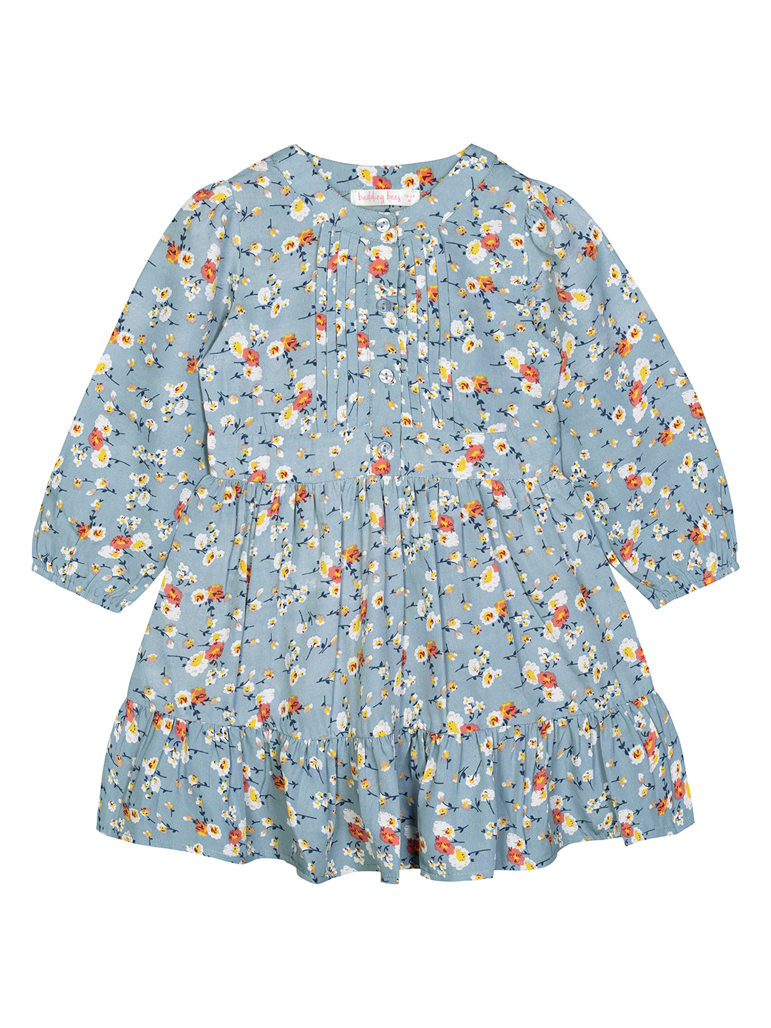 Budding Bees | Budding Bees Baby Girls Green Pleated Dress