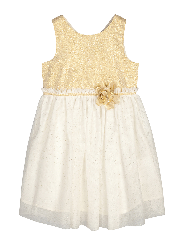 Budding Bees | Budding Bees Girls Cream & White Solid Dress