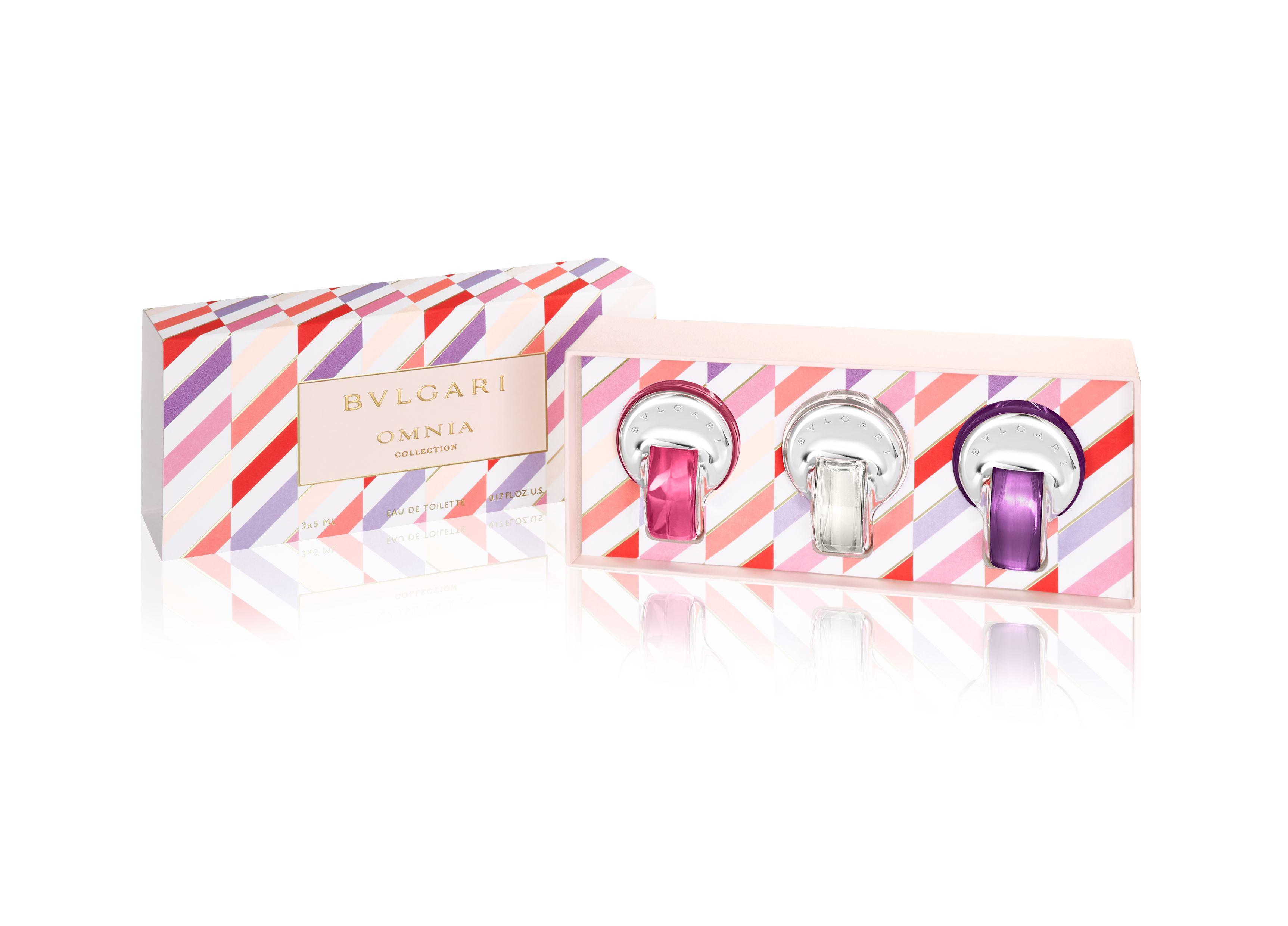 Bvlgari | Omnia Collection Eau de Toilette Kit (Omnia Crystalline and Omnia Pink Sapphire and Omnia Amethyste) 5 MLx3