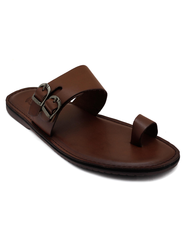 Trends & Trades | Mens  Brown Toe Loop  Sandals