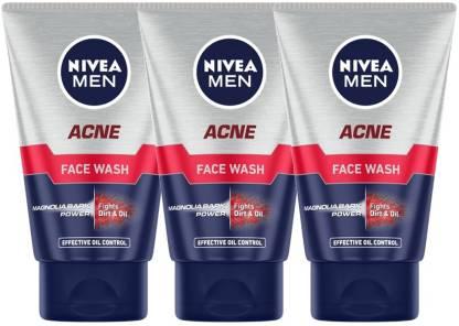 Nivea | NIVEA MEN Acne Face Wash (Pack of 3)