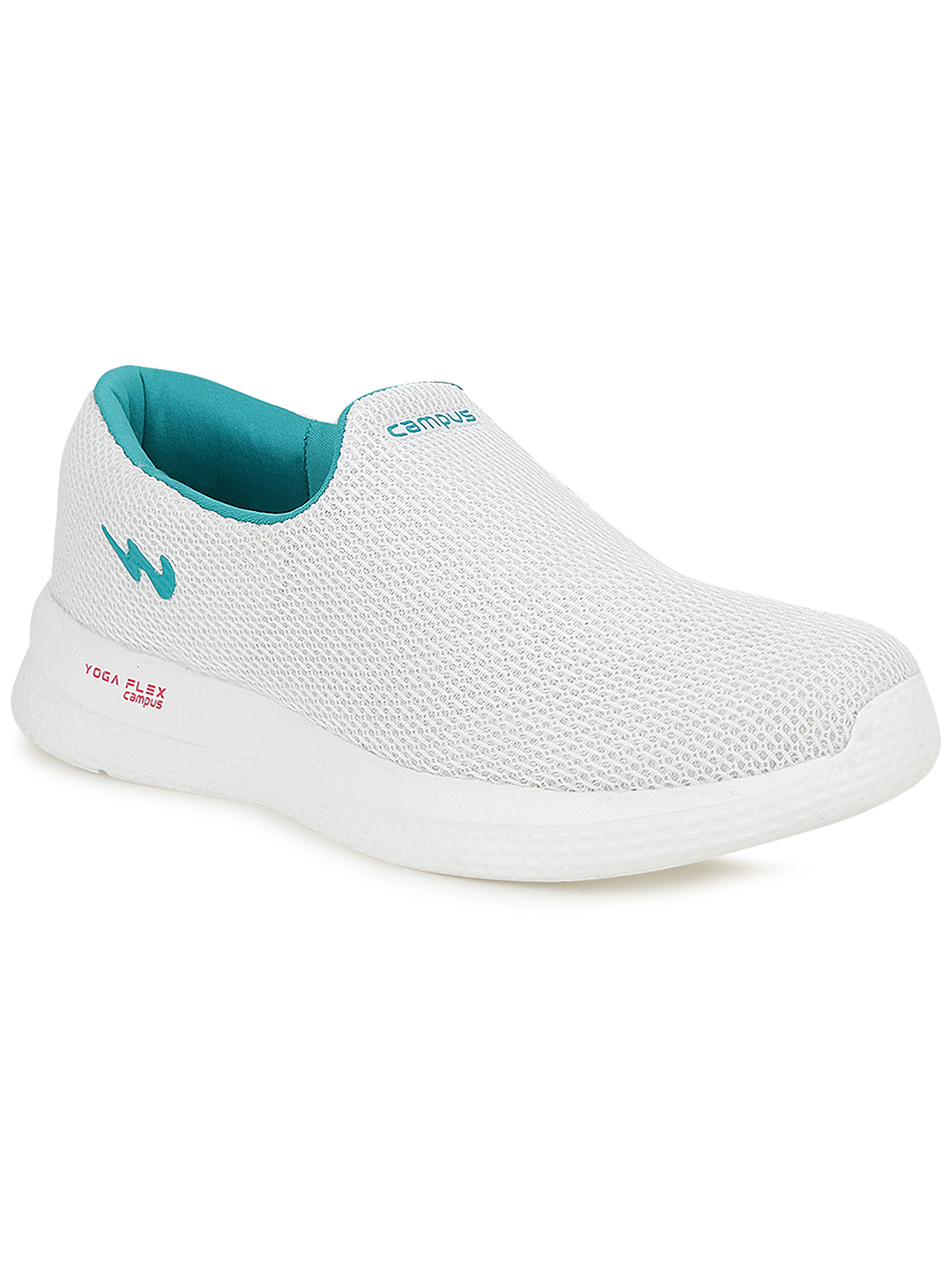Campus Shoes | White Zoe Plus Running Shoes