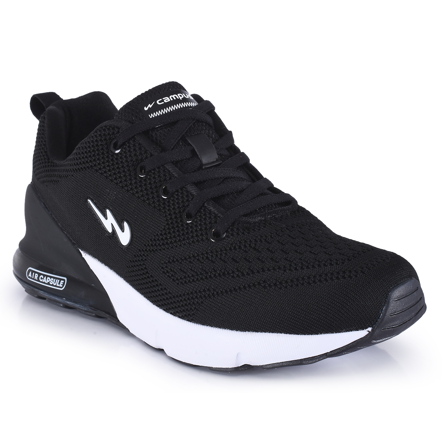 Campus Shoes | Black North Plus Running Shoes
