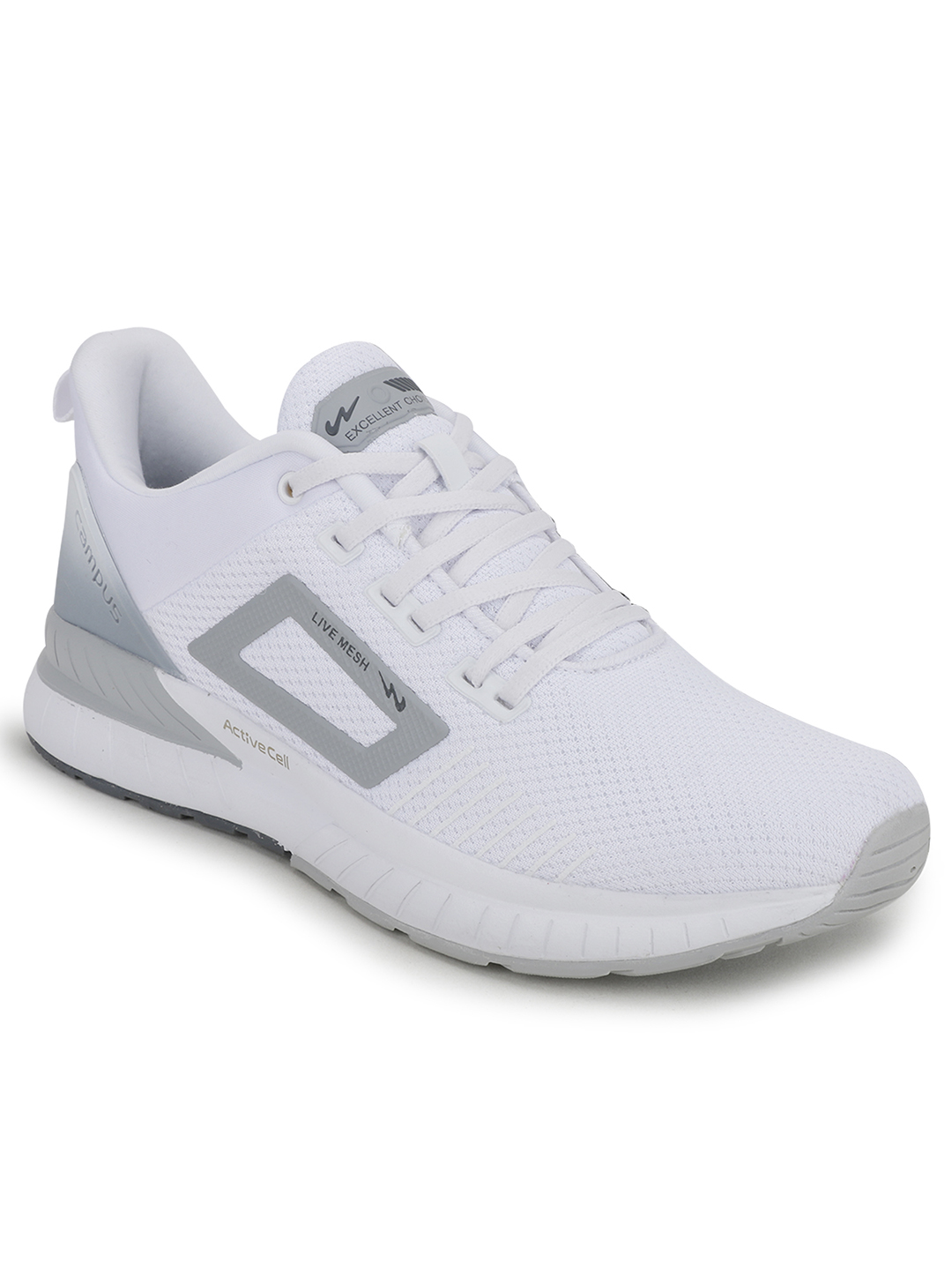 Campus Shoes | White Evok Running Shoes
