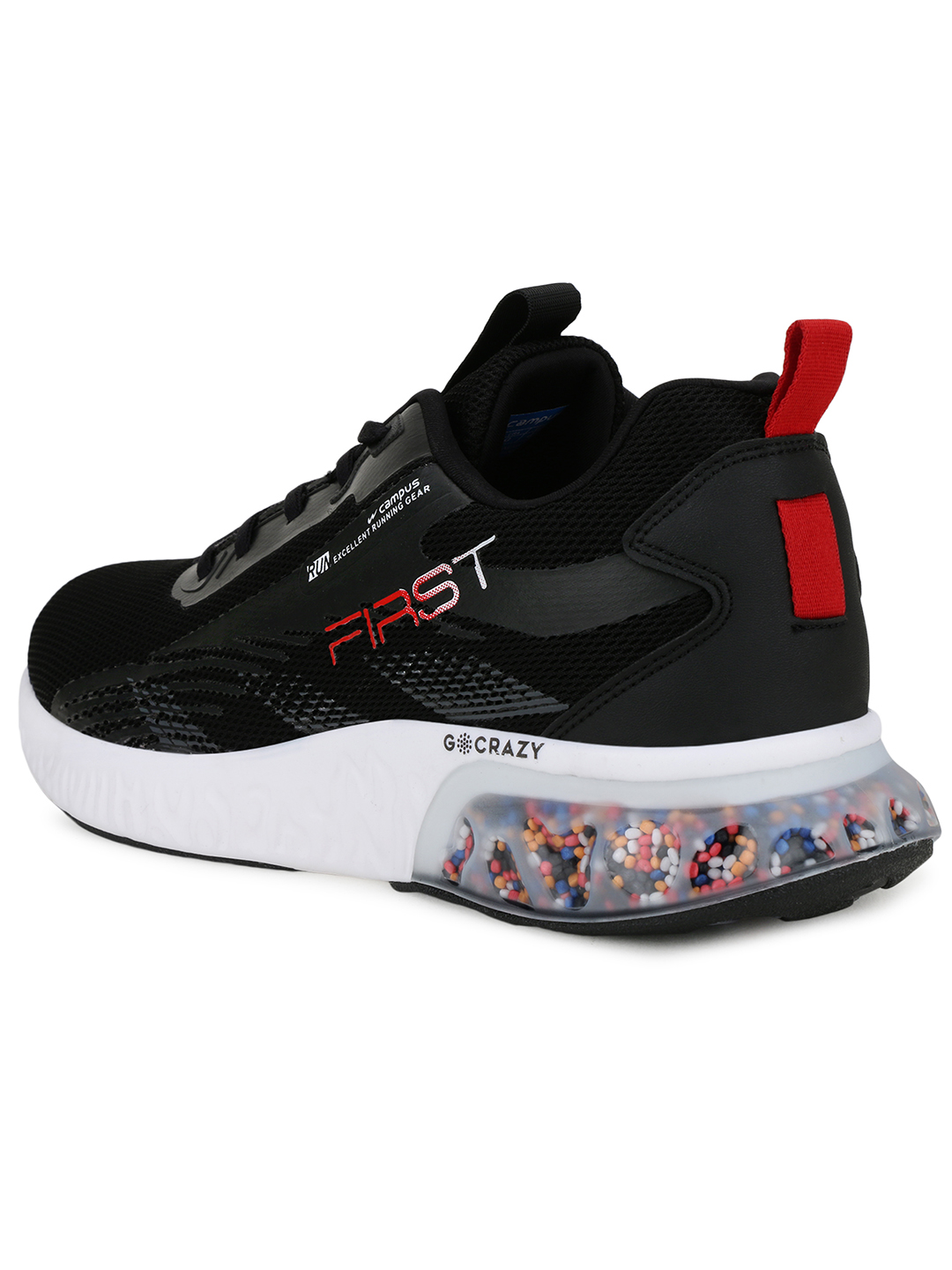 Campus Shoes | Black First Running Shoes