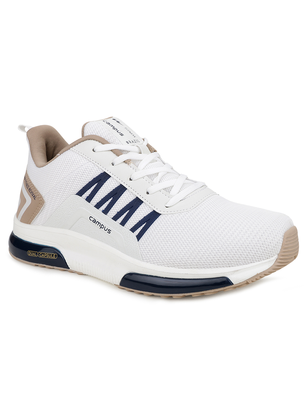 Campus Shoes | White Brazil Pro Running Shoes