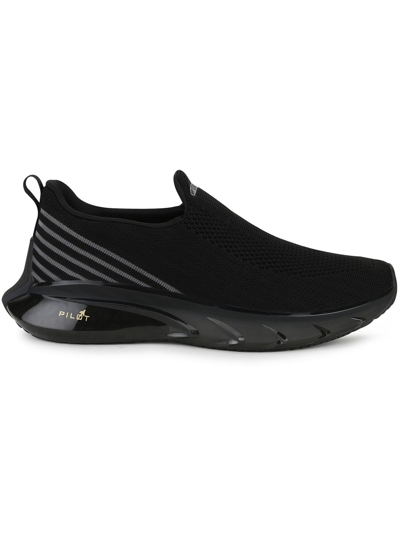 Campus Shoes | Black Pilot Pro Casual Slip-ons