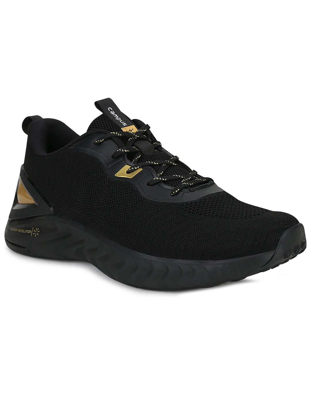 Campus Shoes | Black Fuzion Running Shoes