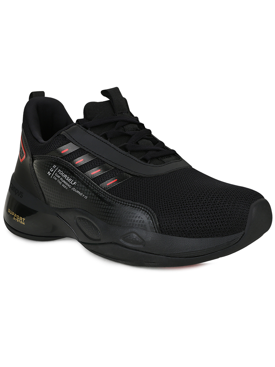 Campus Shoes | Black Terminator(M) Running Shoes