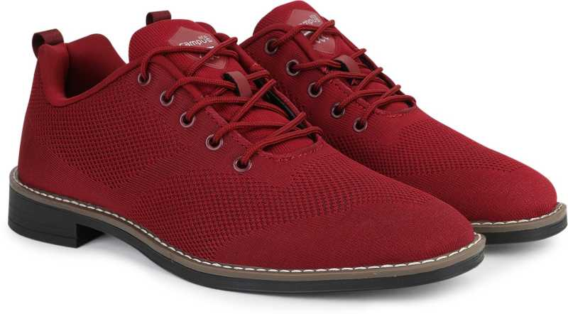 Campus Shoes | Red Classy Casual Lace-ups