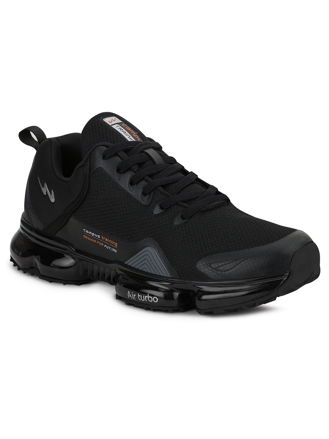 Campus Shoes | Black Stingray Running Shoes